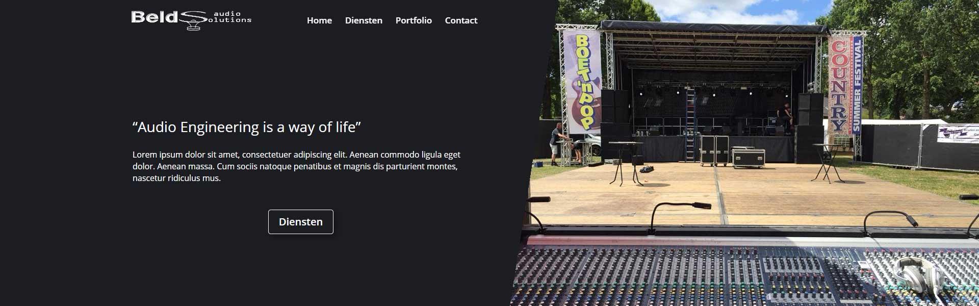 Beld Audio Solutions - Bowie Webdesign - Website op maat