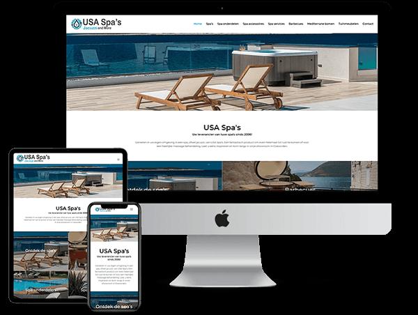 USA Spa's - Website door Bowie Webdesign