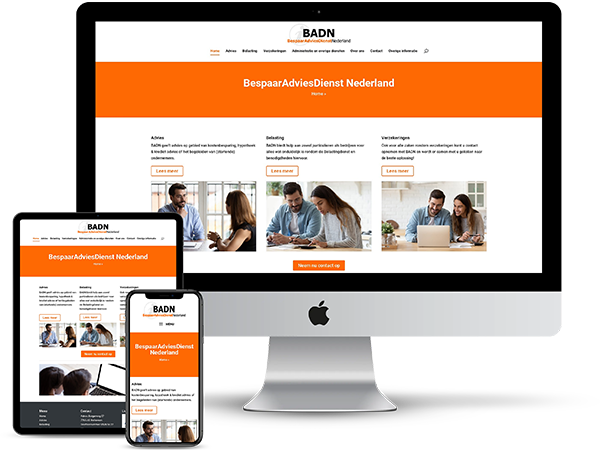 BespaarAdviesDienst Nederland - Website door Bowie Webdesign