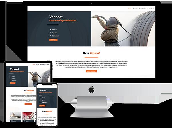 Vencoat Conserveringstechnieken - Website door Bowie Webdesign