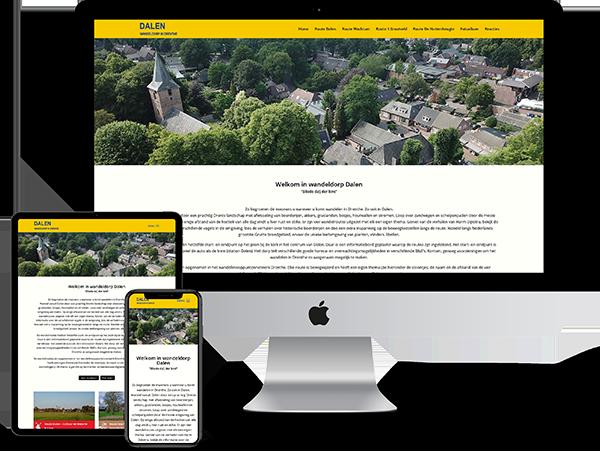 Wandelroutes Dalen - Website door Bowie Webdesign